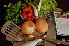 De voorbereiding van het voedsel Stock Afbeeldingen