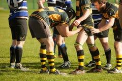 De Voorbereiding van rugbylineout royalty-vrije stock foto's