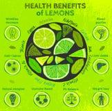 De Voordelen van de citroengezondheid Royalty-vrije Stock Fotografie