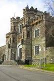 De voordeur en de stappen van historisch Cork Prison in Cork City Ireland Gebouwd tijdens de Victoriaanse era de deze oude steenb royalty-vrije stock foto's