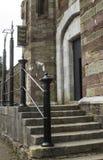De voordeur en de stappen van historisch Cork Prison in Cork City Ireland Gebouwd tijdens de Victoriaanse era de deze oude steenb royalty-vrije stock foto