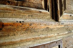 De voordeur van een kerk. Royalty-vrije Stock Afbeelding
