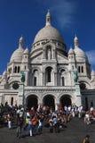 De Voorgevel Monmarte Parijs van Sacrecoure Stock Afbeeldingen