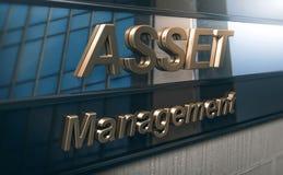 De Voorgevel van Asset Management en van de Beleggingsmaatschappij royalty-vrije illustratie