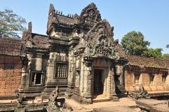 De voorgevel van Banteaysamre   in Siem oogst, Kambodja royalty-vrije stock afbeeldingen