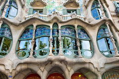 De voorgevel van Casa Battlo in Barcelona, Spanje Stock Foto