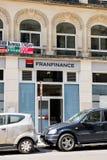 De voorgevel van de Franfinancebank in Parijs, Frankrijk Royalty-vrije Stock Afbeeldingen