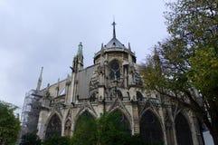 De voorgevel van de Notredame Stock Afbeelding