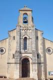 De voorgevel van een middeleeuwse kerk Royalty-vrije Stock Fotografie
