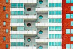 De voorgevel van een woningbouw Textuur stock foto's