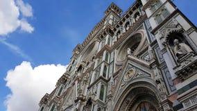 De voorgevel van Florence Cathedral, Toscanië, Italië stock fotografie