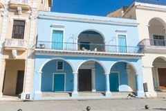 De voorgevel van Fototeca van Cuba Het Oude Vierkant of het Plein Viej Stock Afbeelding
