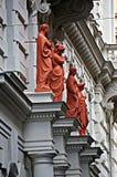 De voorgevel van het huis in Wenen, Oostenrijk Royalty-vrije Stock Afbeelding