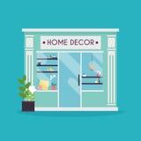 De voorgevel van het huisdecor Decorwinkel Ideaal voor marktzaken Royalty-vrije Stock Afbeeldingen