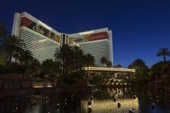 De Voorgevel van het Luchtspiegelinghotel in Las Vegas, NV op 05 Juni, 2013 Royalty-vrije Stock Fotografie