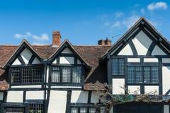 De voorgevel van het Tudorhuis Stock Foto's