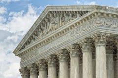 De voorgevel van het Washington DChooggerechtshof stock foto's