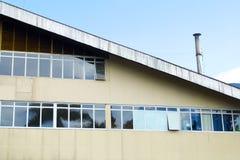 De voorgevel van theefabriek stock afbeelding