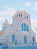 De voorgevel van Tindari-Kathedraal Royalty-vrije Stock Fotografie