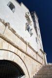 De voorgevel van de Tranikathedraal Apulia, Italië Stock Foto's