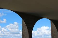 De Voorgeveldetail van het Itamaraty` s Paleis - Arcos doet cio van Palà ¡ doet Itamaraty Royalty-vrije Stock Fotografie