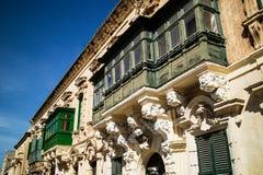 De voorgevels van Malta in valetta royalty-vrije stock fotografie