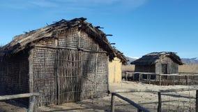 De voorhistorische oever van het meerregeling van Dispilio Kastoria, Griekenland royalty-vrije stock foto's