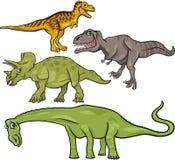 De voorhistorische reeks van het dinosaurussenbeeldverhaal stock illustratie
