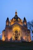 De VoorIngang van de Kathedraal van Saint Paul stock afbeelding