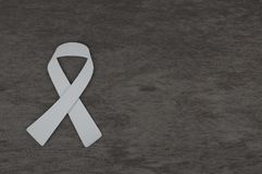 De voorlichting van het longkankerlint met grijze achtergrond, 3D renderin Royalty-vrije Stock Fotografie