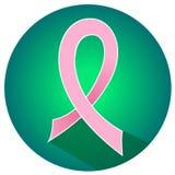 De voorlichtings roze lint van borstkanker Stock Foto's