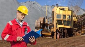 De voorman van de mijnbouw Royalty-vrije Stock Foto