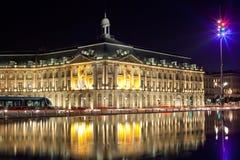 De voorraad echange vierkant van Bordeaux Royalty-vrije Stock Foto's