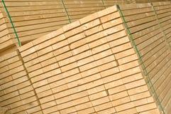 De voorraad van het hout (hoekige mening) Stock Foto's