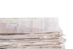 De voorraad van kranten Stock Foto's