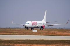 De 737-voorraad van SpiceJet Boeing Beeld Stock Foto's