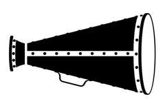 De voorraad vectorillustratie van het megafoon oude retro uitstekende pictogram Stock Foto