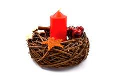 De voorraadbeeld van de Kerstmiskaars Royalty-vrije Stock Afbeelding
