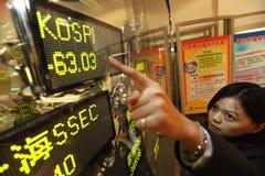 De voorraadneerstorting van Korea stock afbeelding