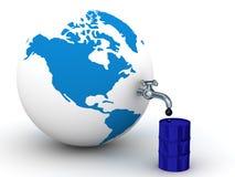 De voorraden van de olie op de aarde. Royalty-vrije Stock Afbeelding