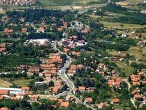 De voorstad van Belgrado van de lucht stock foto's
