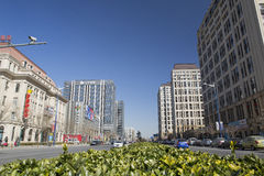 De voorsteden van de Commerciële Straat van Peking Royalty-vrije Stock Foto