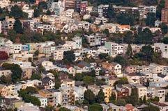 De voorsteden van San Francisco Stock Afbeeldingen