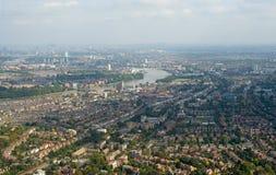 De voorstedenpanorama van Londen Royalty-vrije Stock Foto's