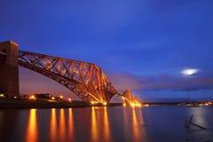 De vooruit Brug van het Spoor, Schotland stock fotografie
