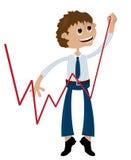 De vooruitgang van de zakenman Stock Foto