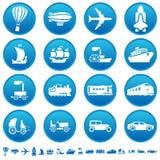 De vooruitgangspictogrammen van het vervoer Stock Foto