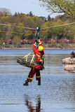 In de voorwaarden van de klimaatverandering zal het veiligheidsvervoer van verwonde mensen over water zeer belangrijke reddingsver royalty-vrije stock foto