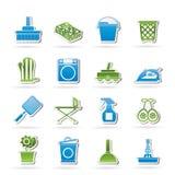 De voorwerpen van de greep en hulpmiddelenpictogrammen vector illustratie