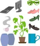 De voorwerpen van de levensstijl vector illustratie